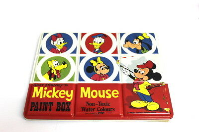 Walt Disney´s Micky Mouse Paint Box Wasserfarbkasten