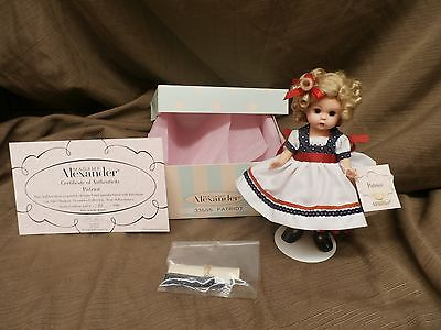 Madame Alexander Americana doll hard plastic PATRIOT 33505 LE #90 out of 1800