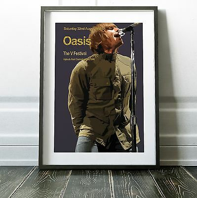Oasis - Their Last Concert Poster Print Olivia Valentine 2017© NEW Exclusive