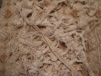 Beautiful Antique French Cotton Lace Lot (1) 20 Yds