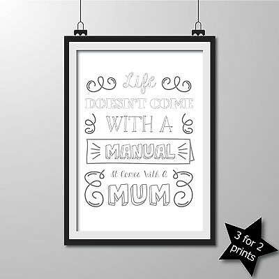 Inspirational QUOTE poster ART Print Typography wall decor gift ~ Mum ..