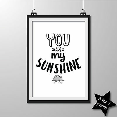 Inspirational QUOTE poster ART Print Typography wall decor gift ~ Sunshine ..