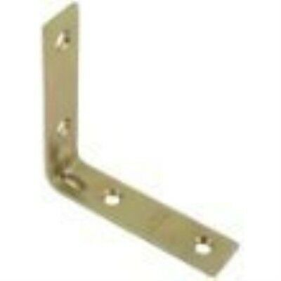 "Stanley Hardware 802190 4 Count 1"" Bright Brass Corner Braces"