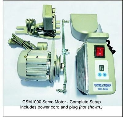 Consew CSM1000 Sewing Machine Electric Servo Motor, 110 Volt, 3/4HP, 550W NEW