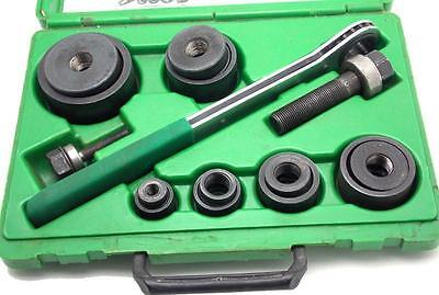 """Greenlee Slug Buster Knockout Punch Set With Wrench Driver 1/2""""-2"""" 7238SB Used"""