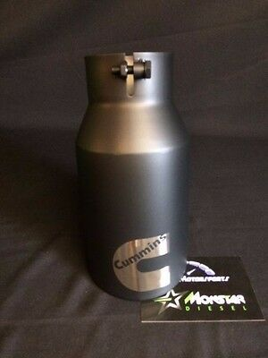 "4"" Inlet 5"" Outlet 12"" long MATTE Black Rolled Angle Diesel Exhaust Tip Custom"