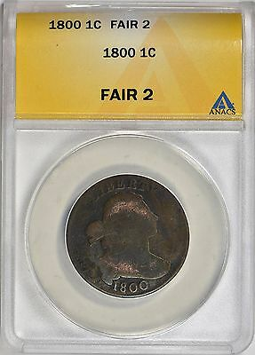 1800 Draped Bust Large Cent ANACS FR-02