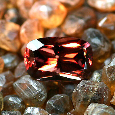 Cherry Red Zircon ~2.50 carats Clear Transparent 8.90 x 5.70 x 4.39 mm