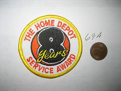 Old The Home Depot Employee 8 Years Of Service Award Patch