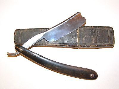 15/16 Wade & Butcher For Gentlemen's Use Straight Razor Barber's Notch w/ Coffin