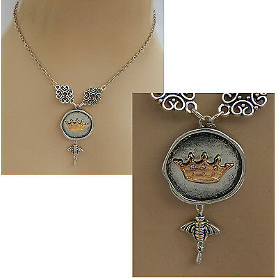 Queen Bee Pendant Necklace Jewelry Handmade NEW Chain Silver Gold Fashion