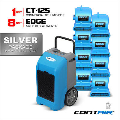 Contair® Wholesale Silver Pack of Commercial Dehumidifiers and Air Movers Blue