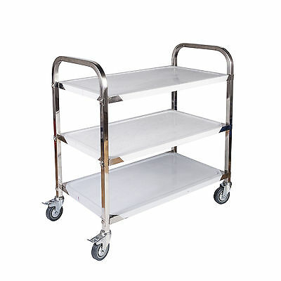 Stainless Steel Kitchen Catering Cart | 3 Tier | 85 x 45 x 90CM | Dining Utility