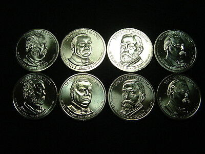 2012 Complete Presidential P&d Unc. Set-8 Coins In All!