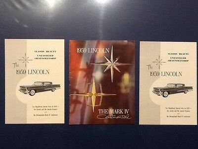 1959 Lincoln Mark IV Advertising Pieces