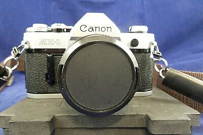 CANON AE-1 35mm SLR Film Camera with FD 50mm f1.8 Lens, Filter and Lens Cover