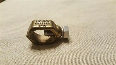 1/2-5/8in Bronze Ground Clamp, Single, PartNo CP700, by Erico Products Inc.