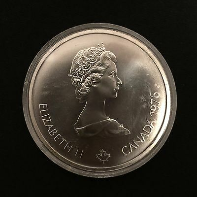 Canadian Silver Ten 10 Dollar Montreal Olympic Coin in Mint Condition