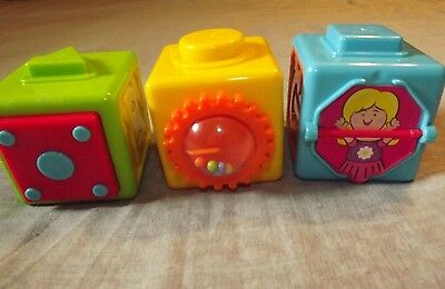Playgo Action Set Of 3 Activity Stacking Blocks Used