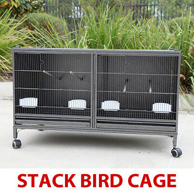 Stackable Bird Breeding Cage With Central Dividor