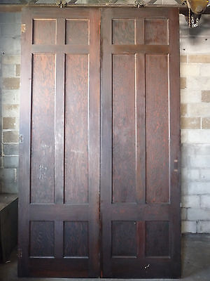 Antique Craftsman Style Pocket/French Doors - C. 1910 Fir Architectural Salvage
