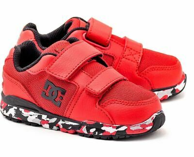 DC Forter V Red Black White Infant Toddler Baby Boy Shoes Sneakers All Sizes