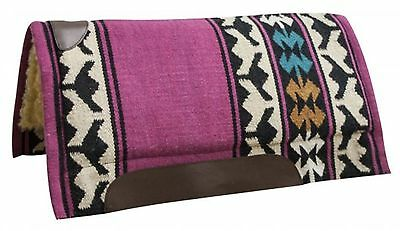 "Showman PINK 32"" x 34"" Wool Top Western Cutter Style Saddle Pad! HORSE TACK!"