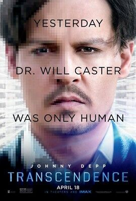 TRANSCENDENCE MOVIE POSTER 2 Sided ORIGINAL Advance Ver B 27x40 JOHNNY DEPP