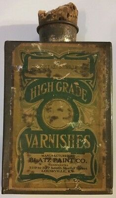 Antique Cork Top Varnish Can Early Can Advertising