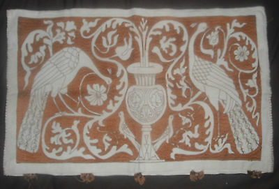 Antique Pennsylvania Dutch hand embroidered pillow case