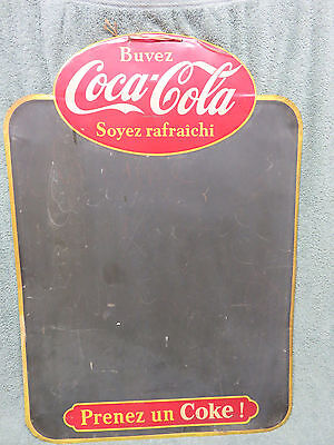 Vintage Retro Coca-Cola Coke Menu Board Chalkboard Metal Sign French France