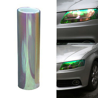 Chameleon Color Changing Tint Vinyl Wrap Sticker Headlight Film Car Light Lamp