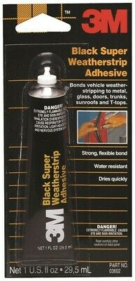 OZ BLK WTHRStr Adhesive, Single, PartNo 3612, by 3m Company
