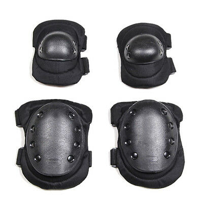 Protective Sports Airsoft Tactical Black Sporting  Knee pads And Elbow pads Sets