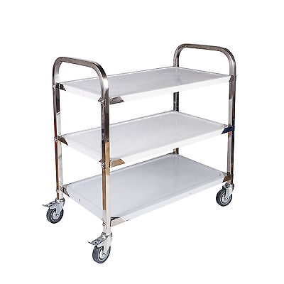 Stainless Steel Kitchen Catering Cart | 3 Tier | 70 x 45 x 84CM | Dining Utility