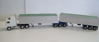 Ho Tarped B Double Tipper Trailers & Prime Mover Ideal For The Ho Layout