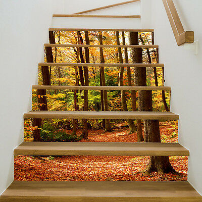 The Fall Forest Stickers 3D PVC Self-adhesive Home Decor Waterproof Stairs Decor