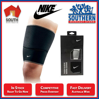 Nike Thigh Sleeve Compressive Support Breathable Comfort Gym Fitness Workout