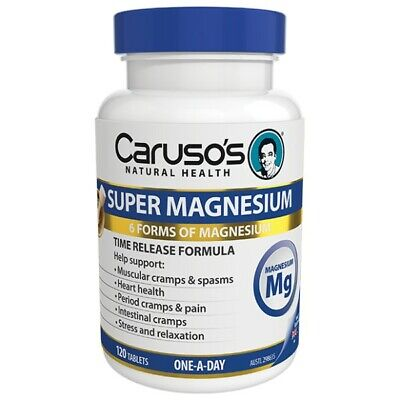 Caruso's Ultra Max Magnesium Complex 120 Tablets Muscular Cramps Spasms Carusos