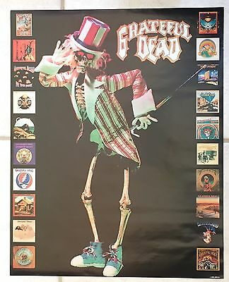 Vintage Grateful Dead 1990 Promo Poster 20 Album Covers Pictured Very Rare NMNT