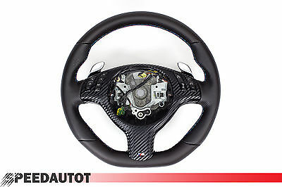 Part Exchange Flattened LEATHER STEERING WHEEL BMW E46 M3 X5 3, 0I NEW -