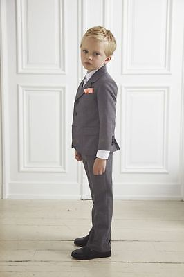 Grey New Wedding Page Boys Suit Formal Boys Kids Teenagers Party Prom Tuxedos