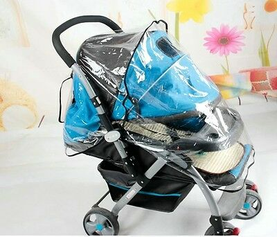 Protable Baby Waterproof Rain Cover Wind Shield Fit Most Strollers Pushchairs LS