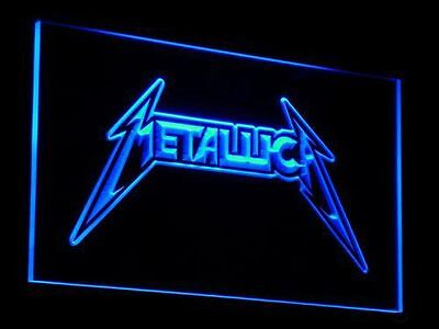 Metallica Led Sign Approx 12x8 Inches On/Off Switch