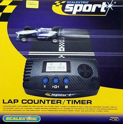 C8215 Scalextric Slot Cars 1:32 Scale Lap Counter and Timer Brand New & Boxed UK