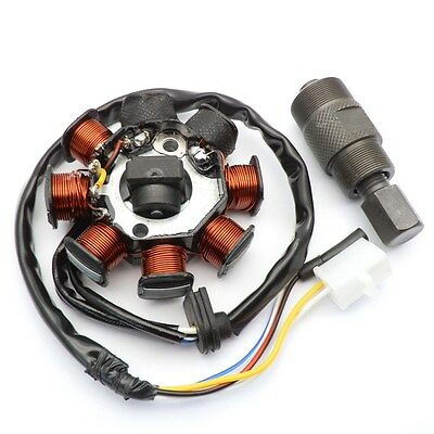 Stator Magneto w/ Flywheel Puller 50cc GY6 139QMB Chinese Scooter Baotian JMstar