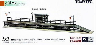 NIB N Scale Tomytec 149 Detailed Rural Station Stop Unassembled Structure Kit