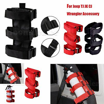 Roll Bar Fire Extinguisher Straps with Hook Loop For Jeep Wrangler Accessories