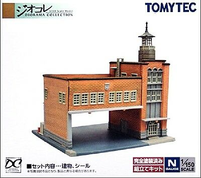 NIB N Scale Tomytec 036 Firehouse Fire fhStation Unassembled Structure Kit