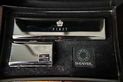Sheaffer Targa Imperial Silver Fountain Pen set - unused and ultra rare